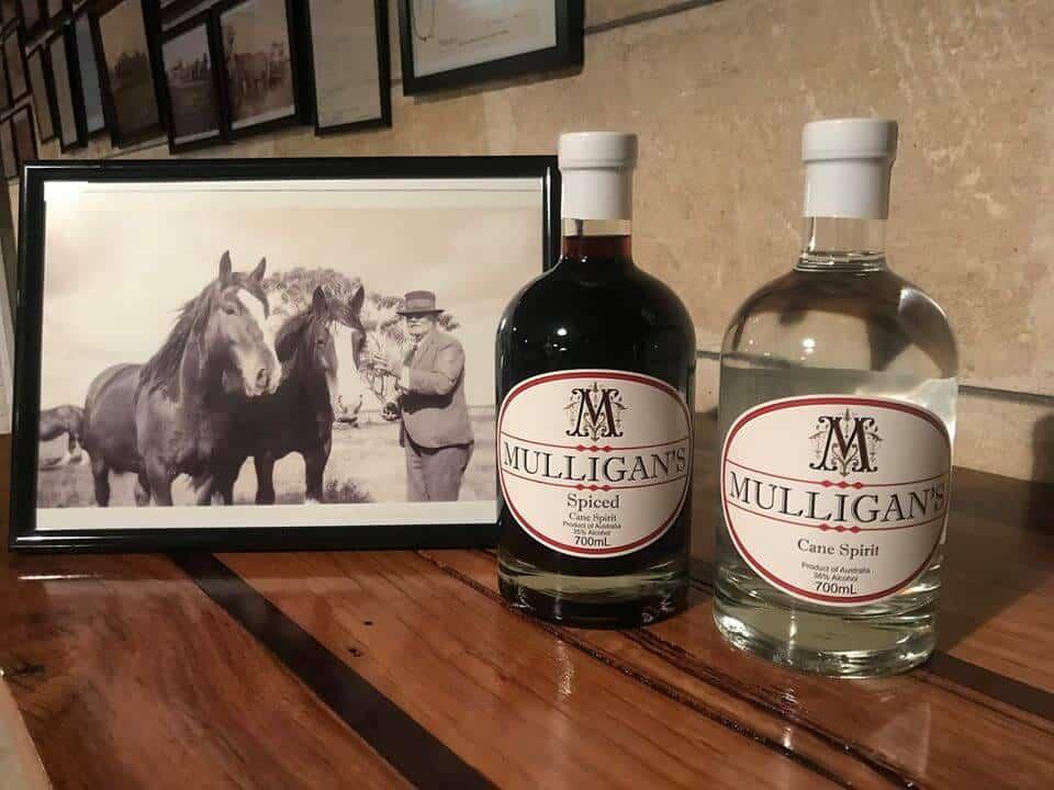 Patrick Joseph Mulligan and Mulligans Rum Bottles